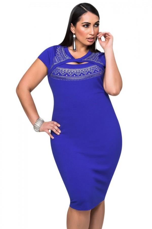 Rochie XXL  Blue Royal