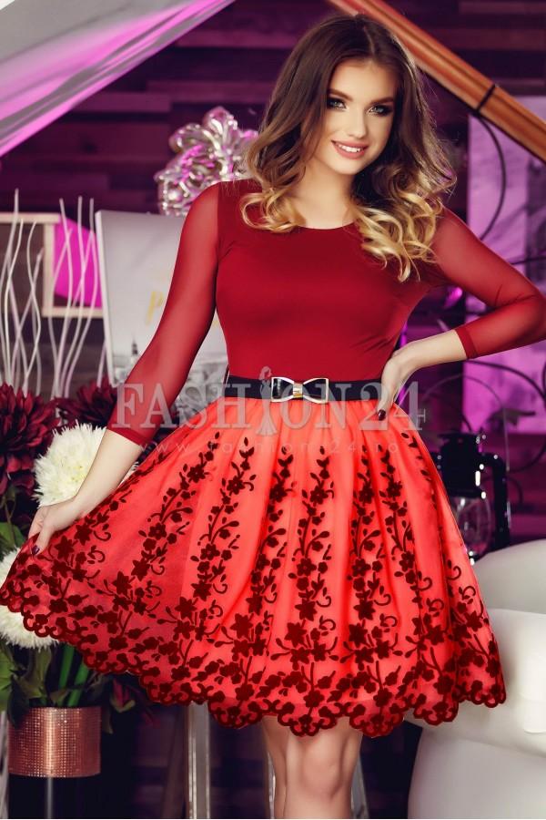 Rochie De Seara Red Intense Loop