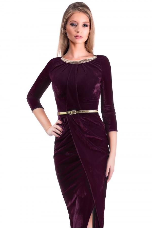 Rochie De Seara Royal Velvet Purple