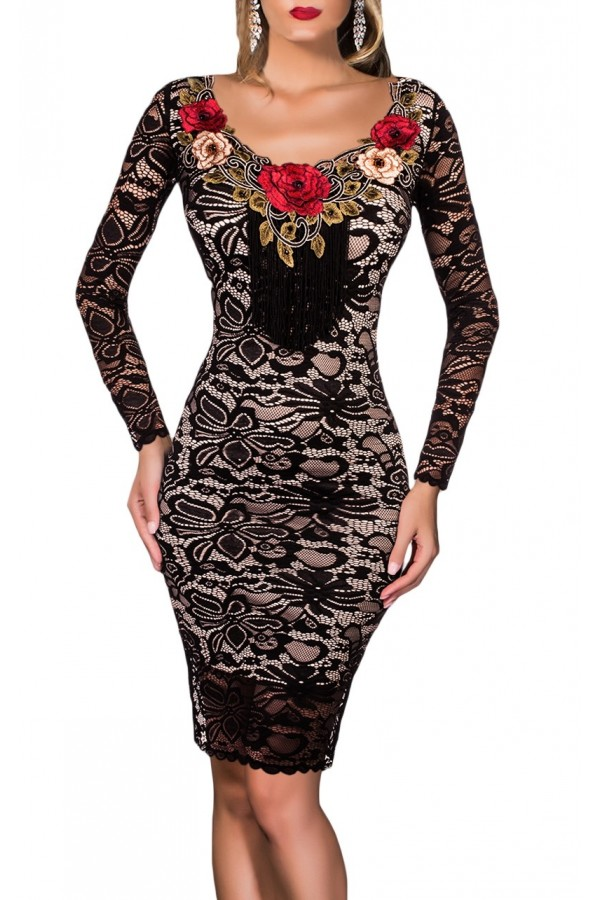 Rochie Eleganta Floral Accent