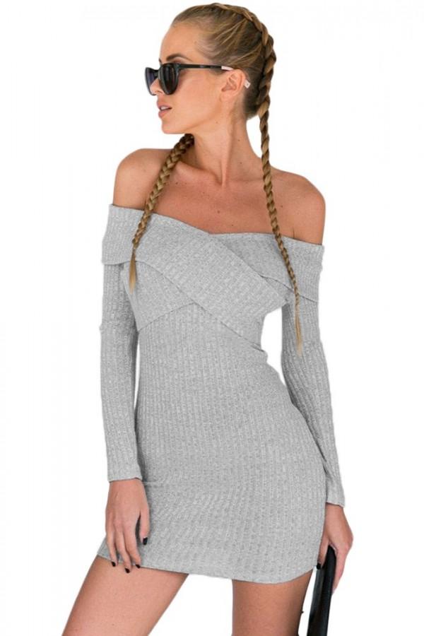Rochie De Zi Updo Grey Knitwear
