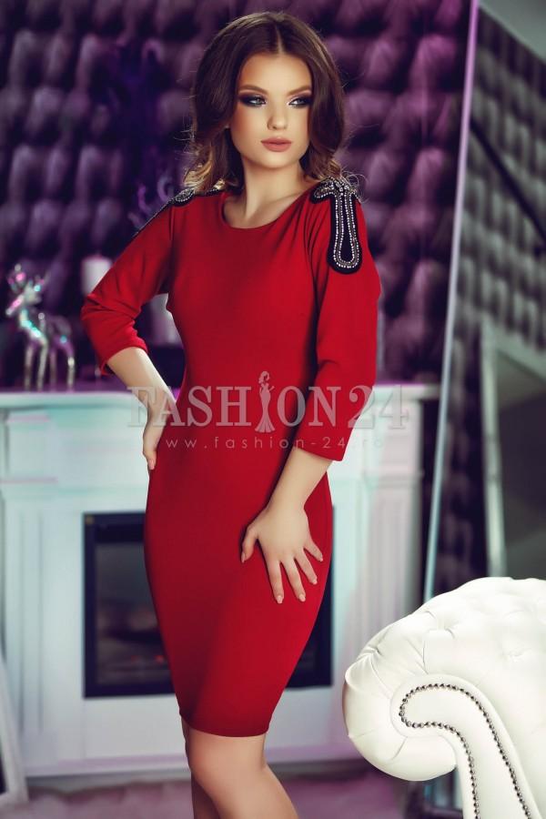 Rochie Eleganta Silver Shoulders