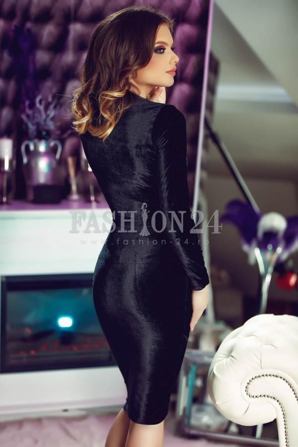 Rochie Eleganta Love Velvet Black