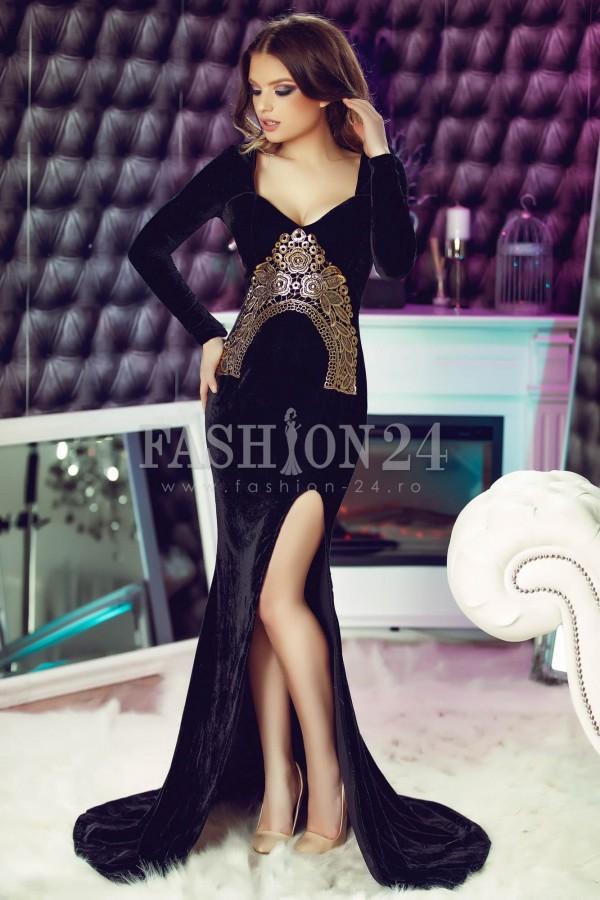 Rochie De Seara Marvelous Black Velvet