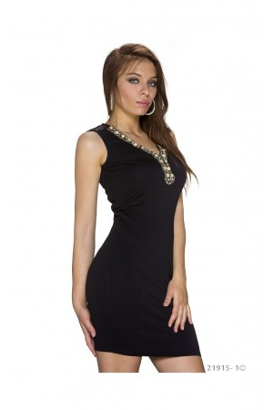 Rochie  Beads Gold