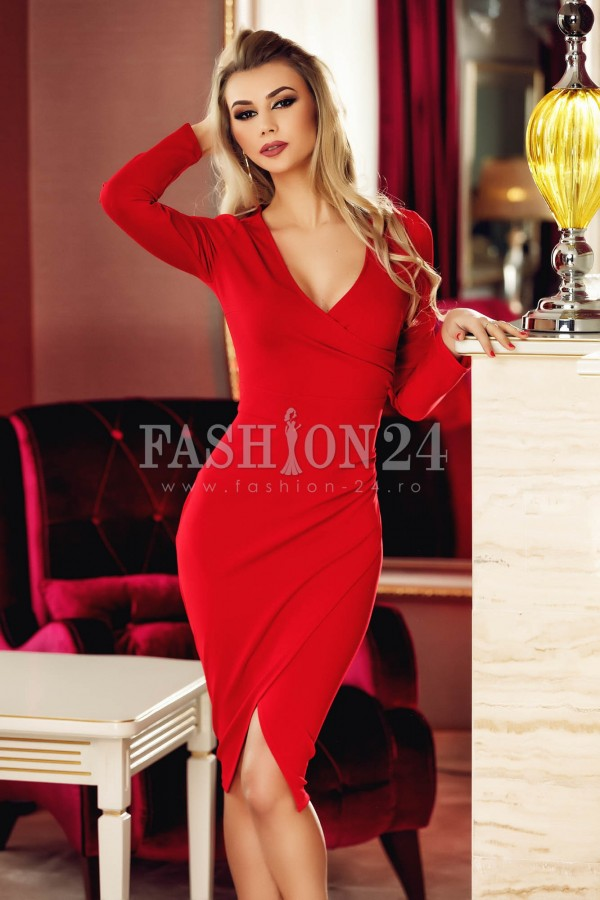 Rochie Red Crystal