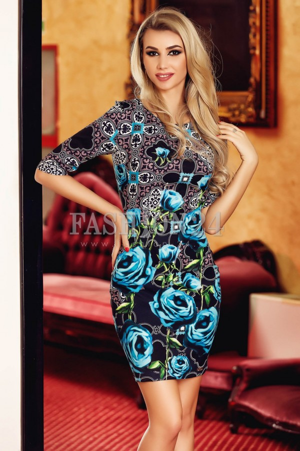 Rochie Blue Roses