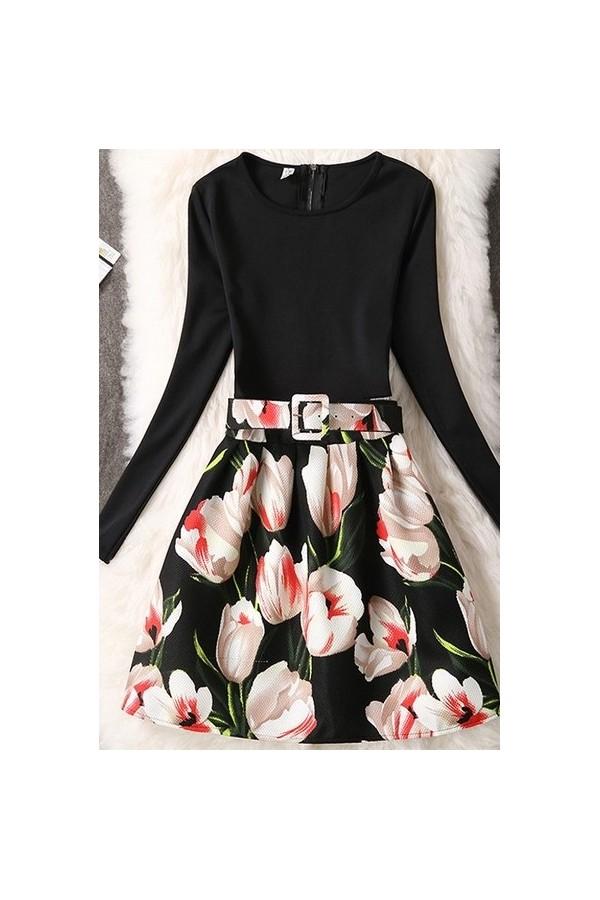 Rochie Cu Imprimeu Red Tulips