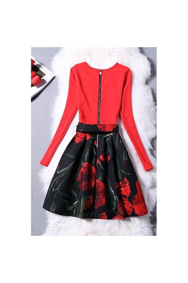 Rochie Cu Imprimeu Red Love