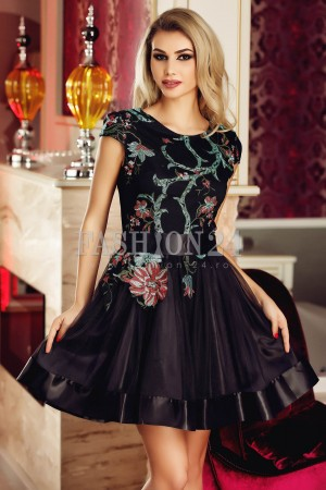 Rochie Black Tulle