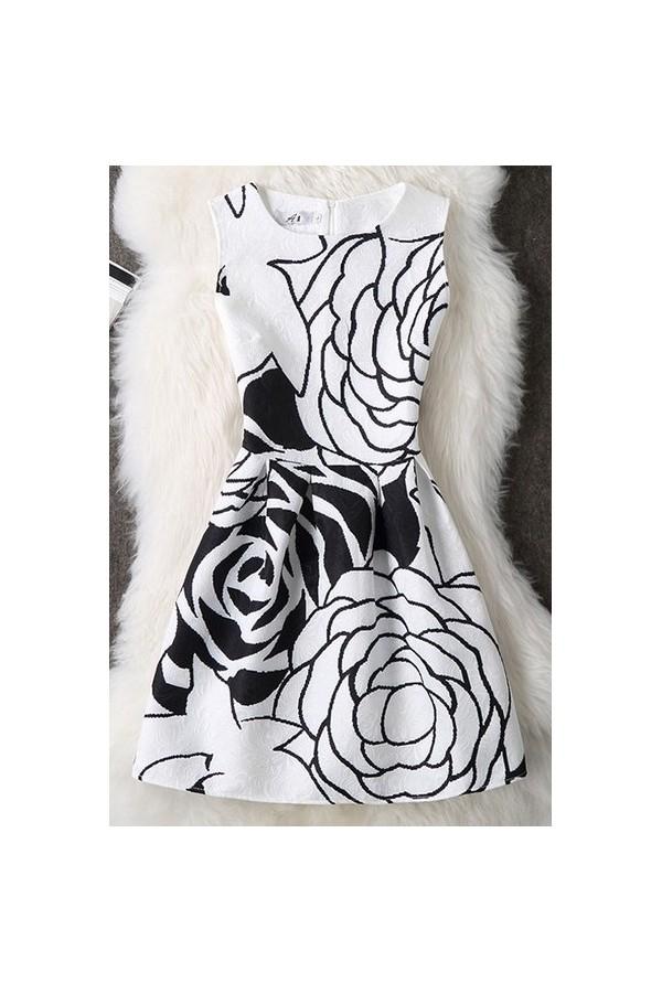 Rochie Cu Imprimeu White Edition