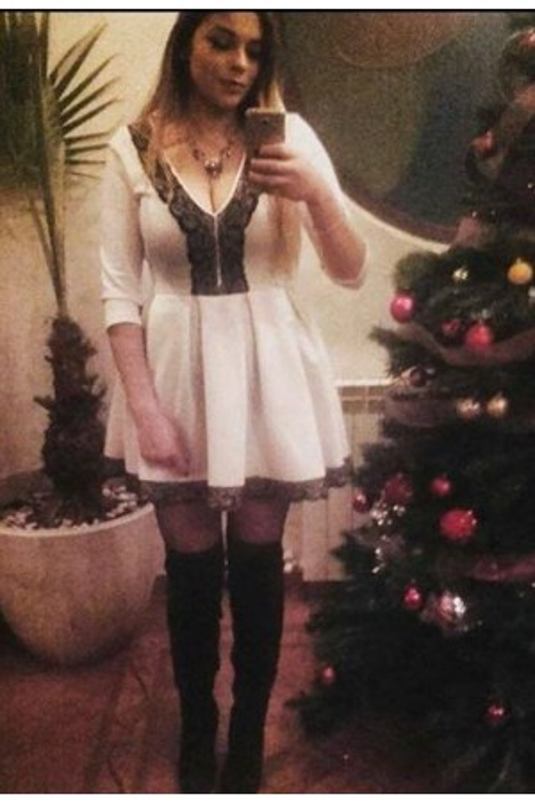 Alexandra - Rochie White Fit
