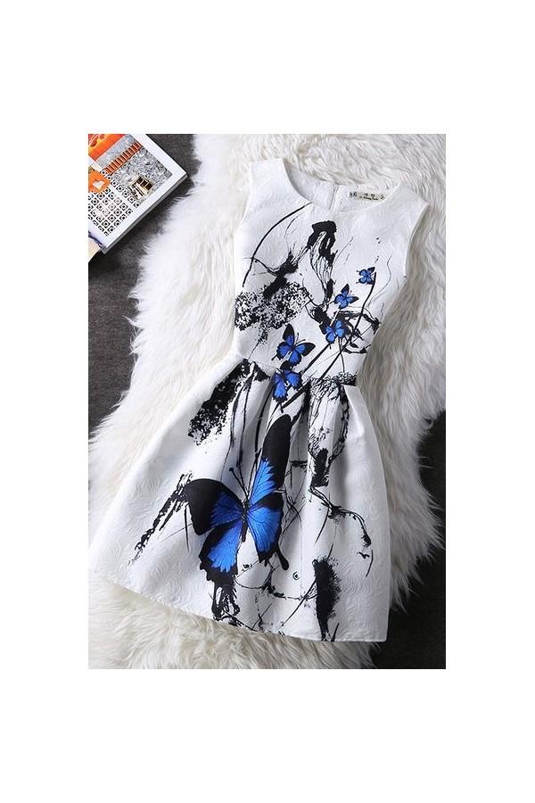 Rochie Cu Imprimeu Blue Strident