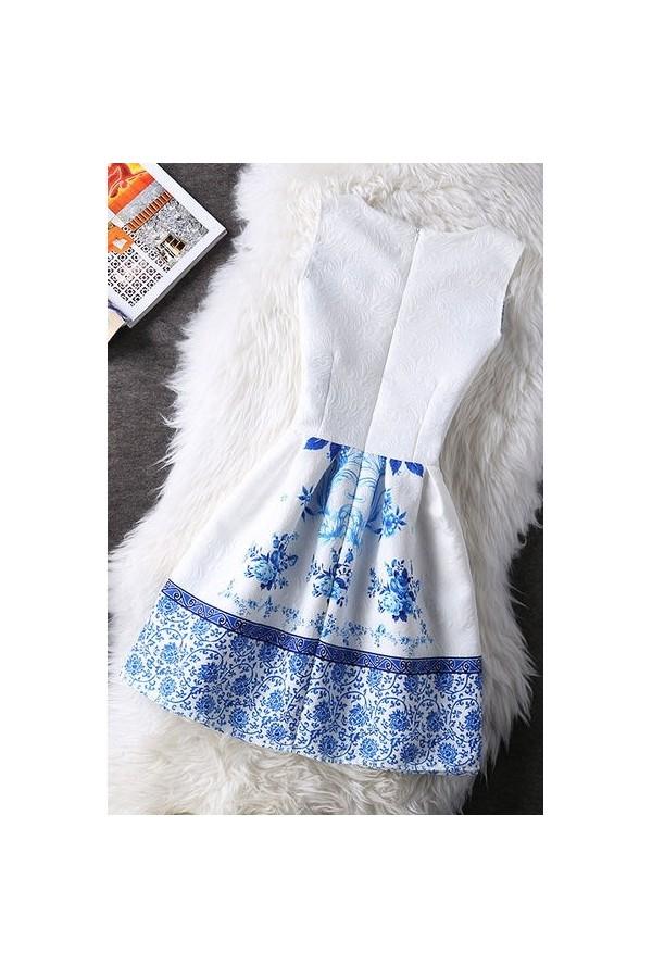 Rochie Cu Imprimeu Blue Option
