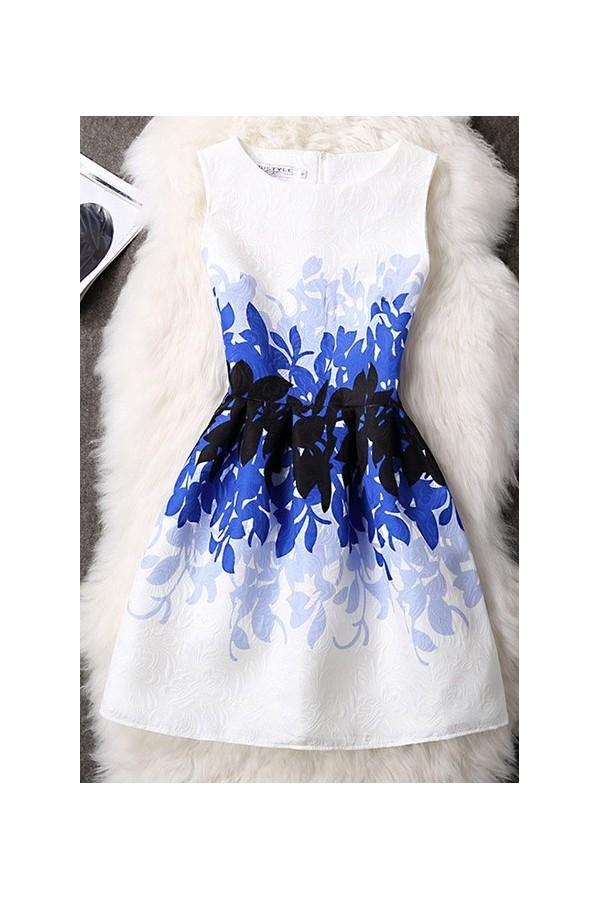 Rochie Cu Imprimeu Blue Illusion