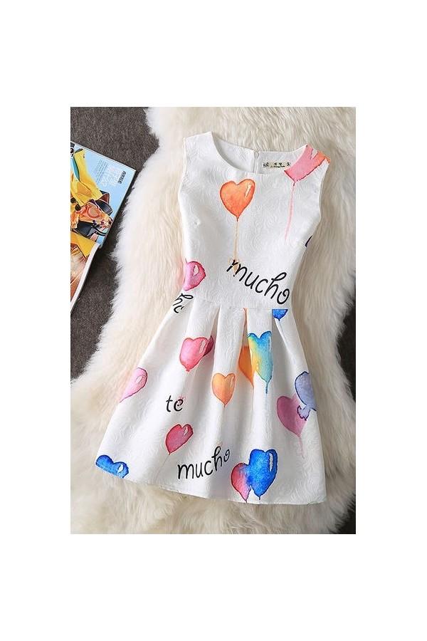 Rochie Cu Imprimeu Heart Ballons