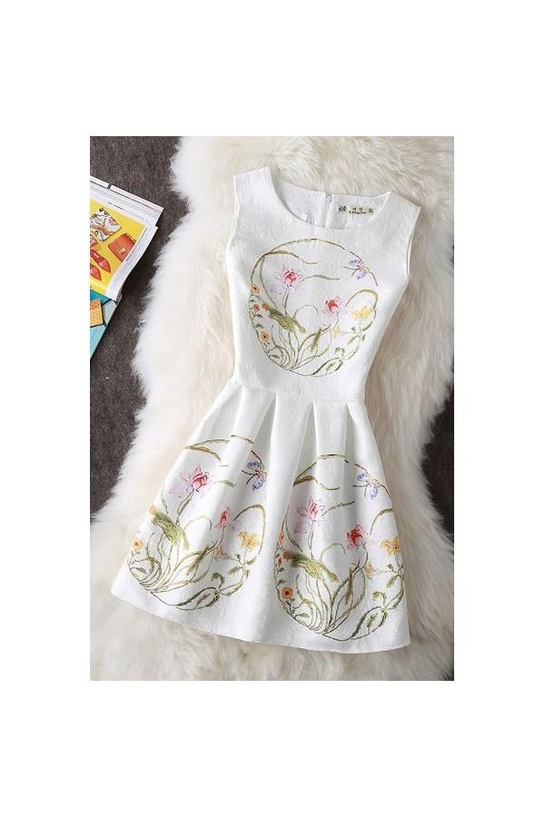 Rochie Cu Imprimeu White Spring