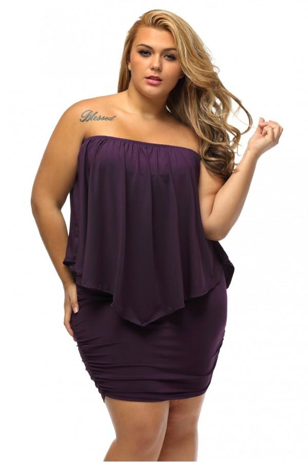 Rochie XXL Purple Choice
