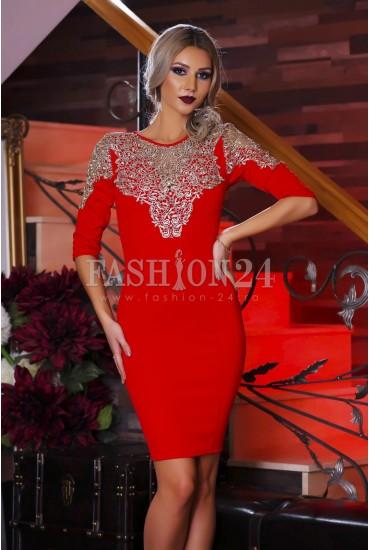 Rochie Red Decolletage