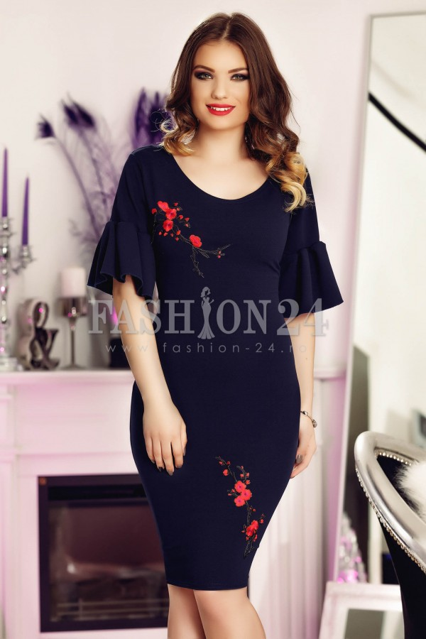 Rochie Dark Blue Addition