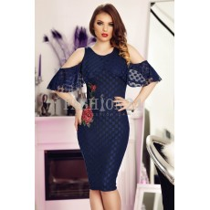 Rochie Navy Blue Roses thumbnail