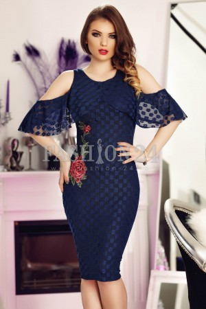 Rochie Navy Blue Roses