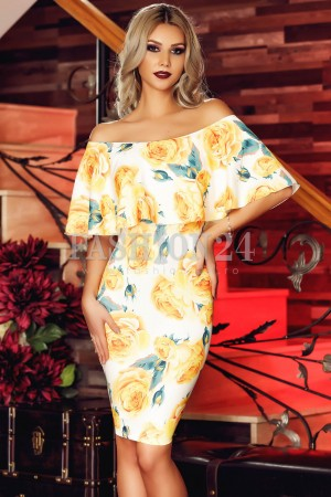 Rochie Yellow Contrast