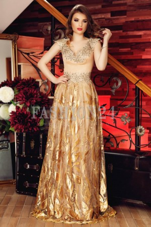 Rochie Brown Leaves