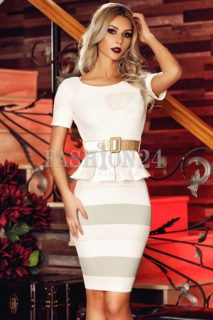 Rochie Gray Lines