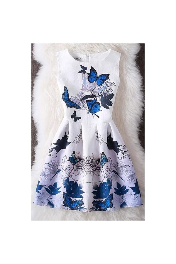 Rochie Cu Imprimeu 3D Butterflies
