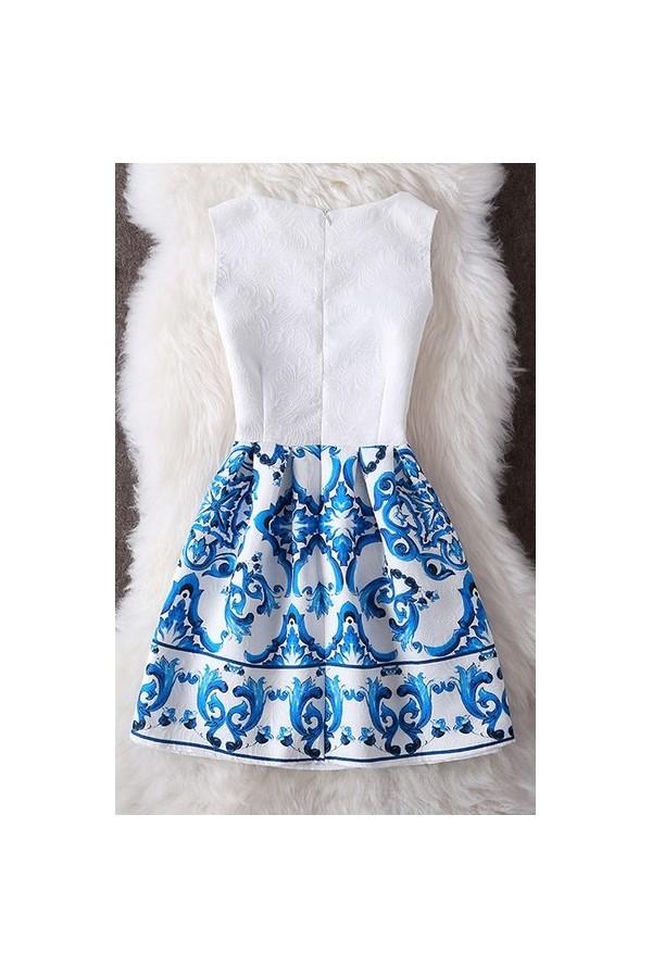 Rochie Cu Imprimeu New Dream Blue