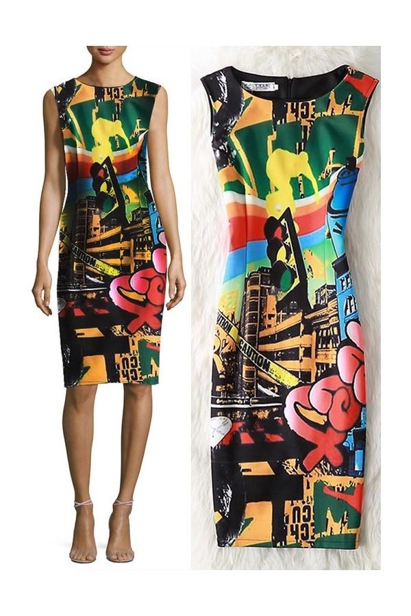 Rochie Cu Imprimeu Street Style