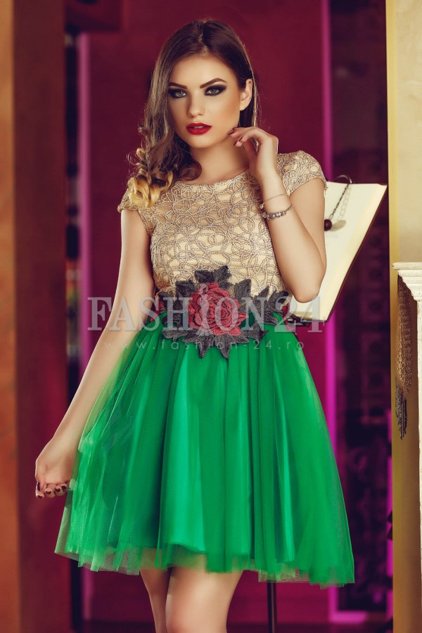 Rochie Green Tulle