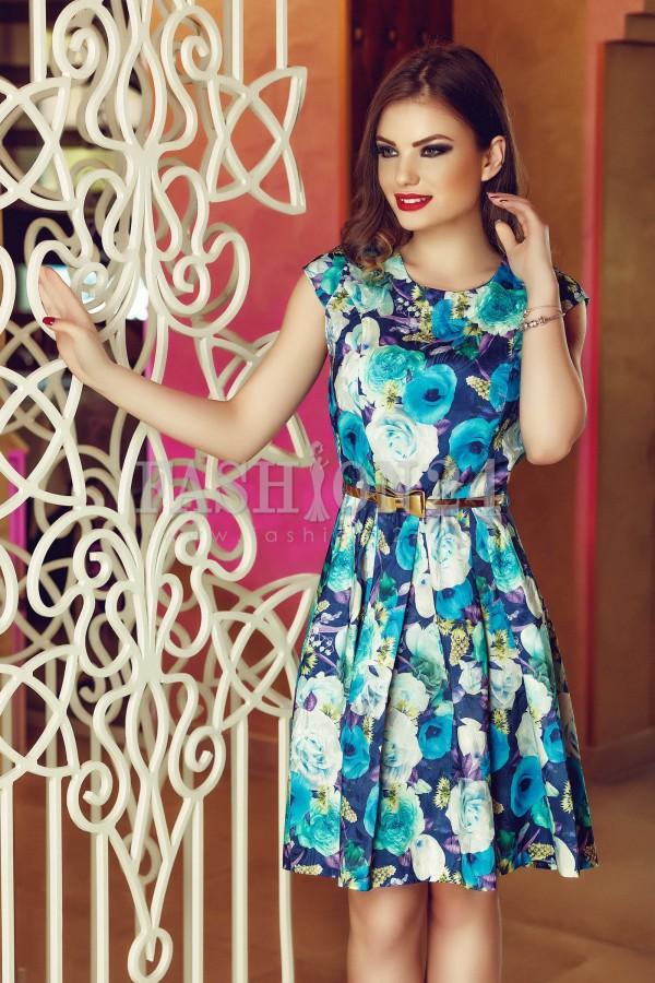 Rochie Blue Flowers
