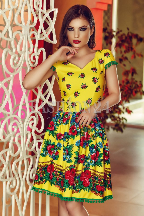 Imagine produs Rochie Gypsy Collection Yellow