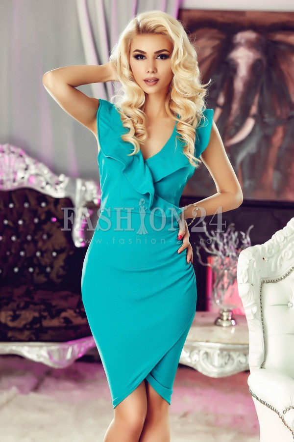 Rochie Turquoise Ruffle