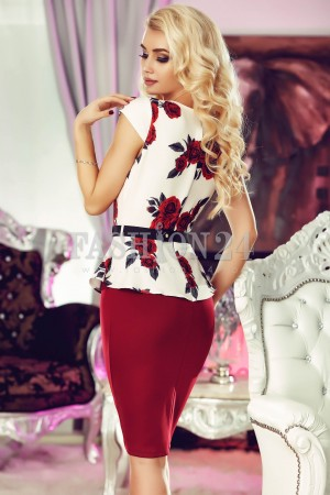 Rochie Burgundy Roses