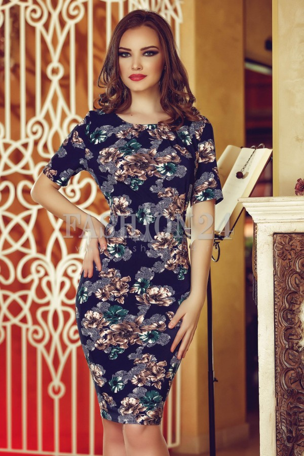 Rochie Xxl Brown Leaves