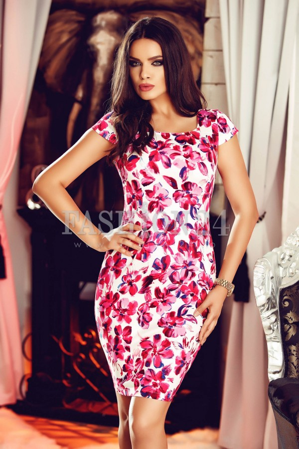 Rochie Pink Leaves