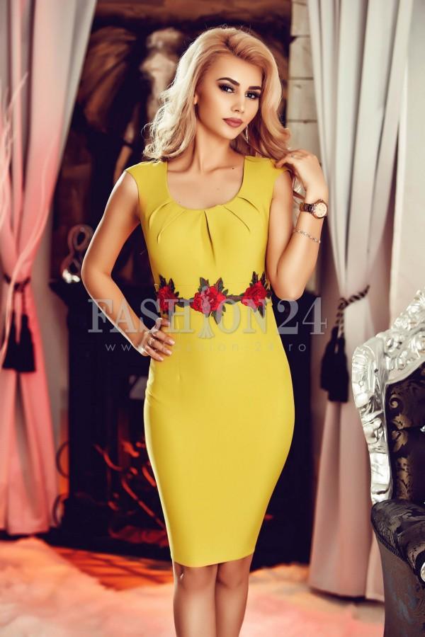 Rochie Yellow Waist