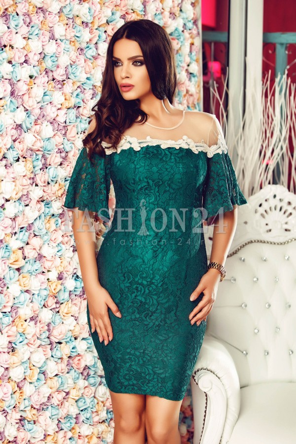 Rochie Green Sleeves