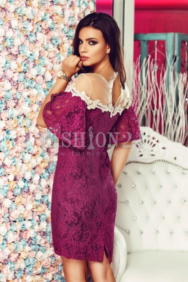 Rochie Purple Sleeves