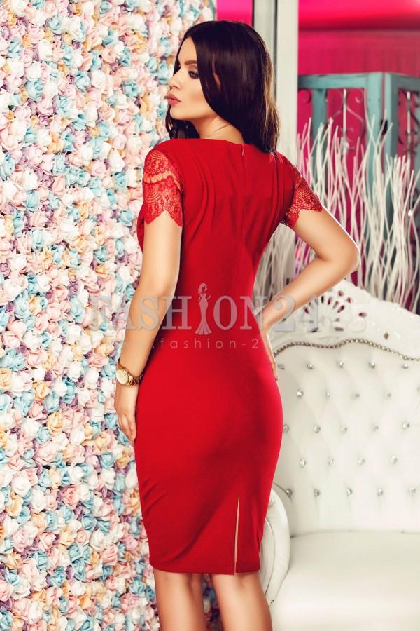 Rochie Cu Dantela Red Lace