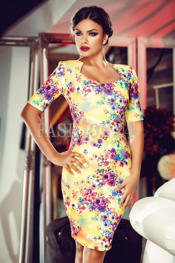 Rochie Great Yellow Long