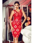 Rochie Golden Embroidered Red